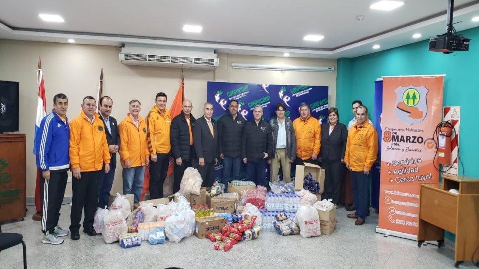 Donación solidaria para afectados por las inundaciones.
