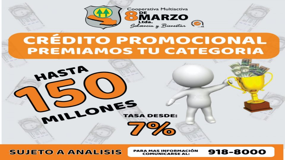Crédito Promocional, segun calificación de Socio