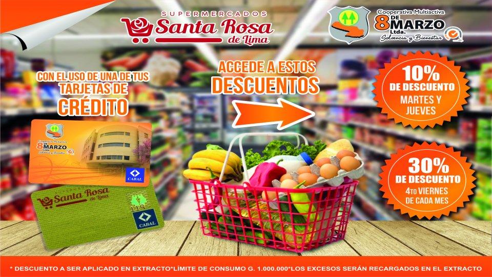 Descuentos en el Supermercado Santa Rosa de Lima